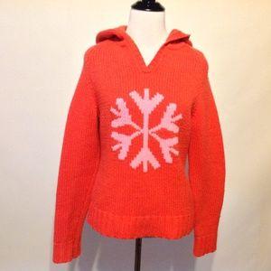 Gap Wool Sweater Hoodie Womens Small Snowflake
